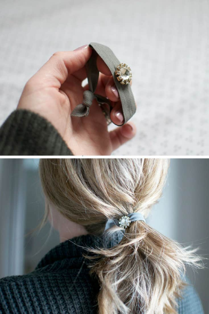 DIY Jewelled Hair Elastic