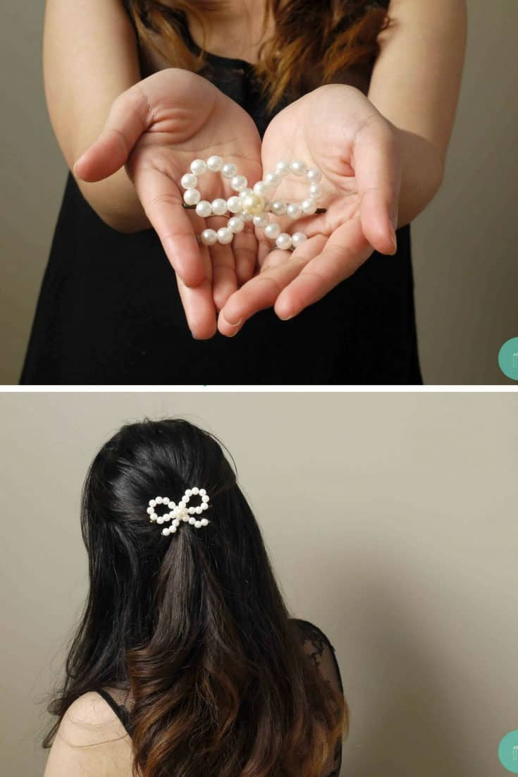 Delicate Pearl Bow Hair Accessories