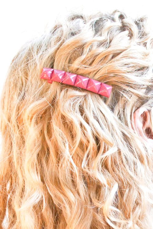 DIY Studded Barrette Tutorial