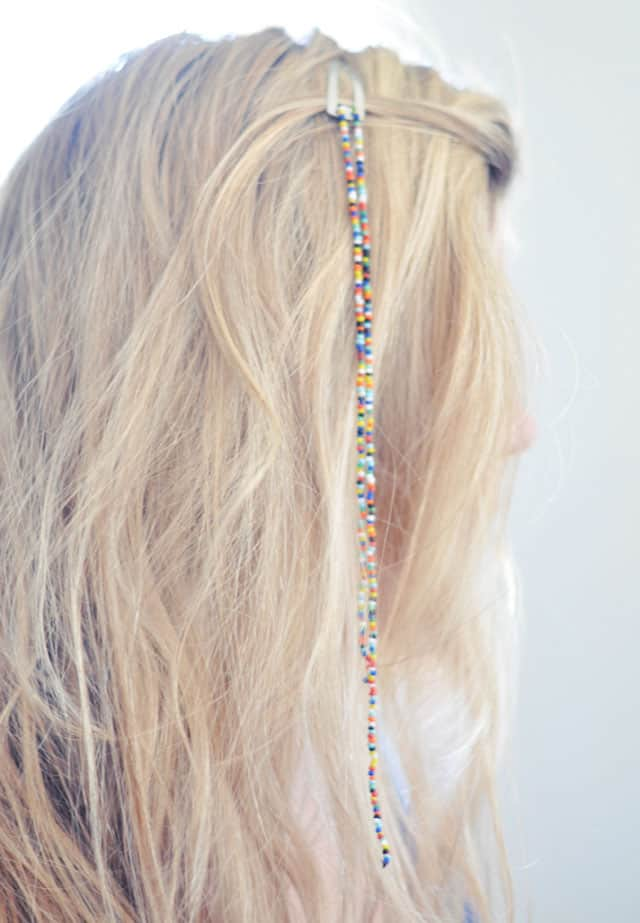 Beaded Hair Clips