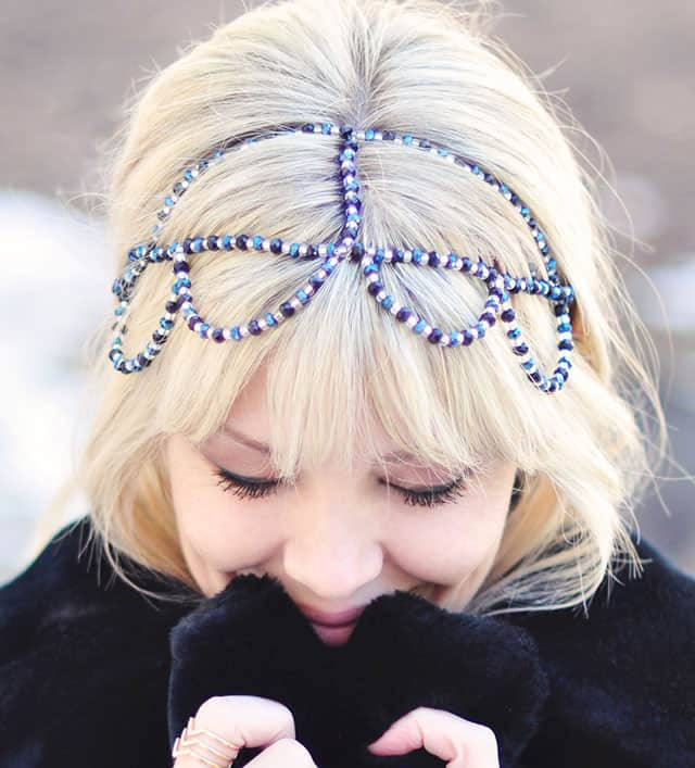 DIY Beaded Headband Crown