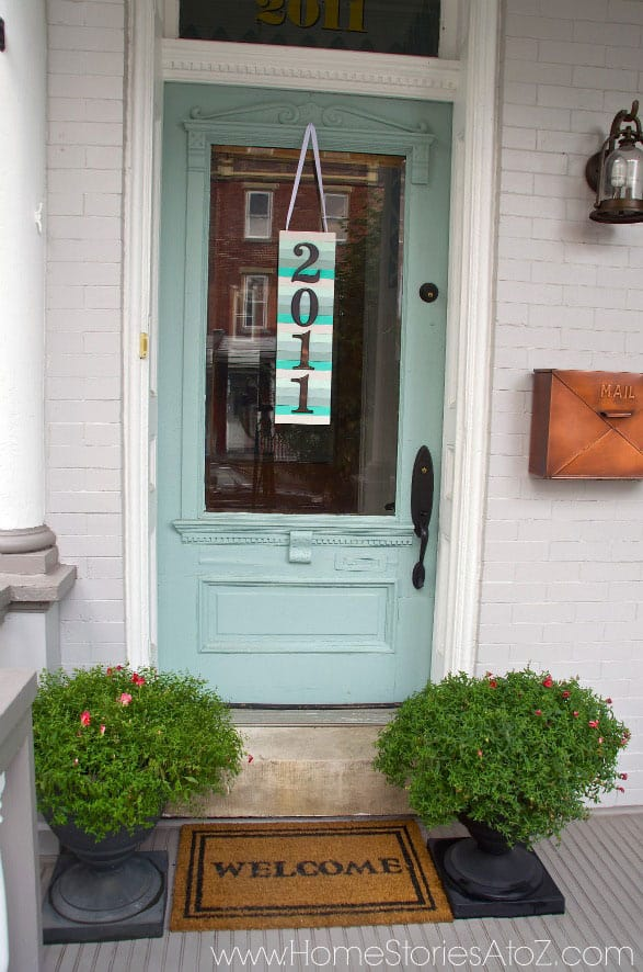 DIY Address Plaque: Paint Stick Art