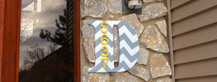 Make a House Address Number Monogram