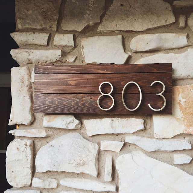 DIY House Numbers Sign
