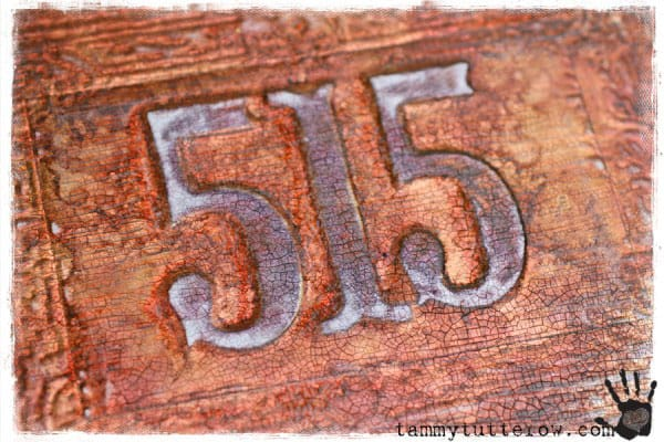 Embossed Copper House Numbers