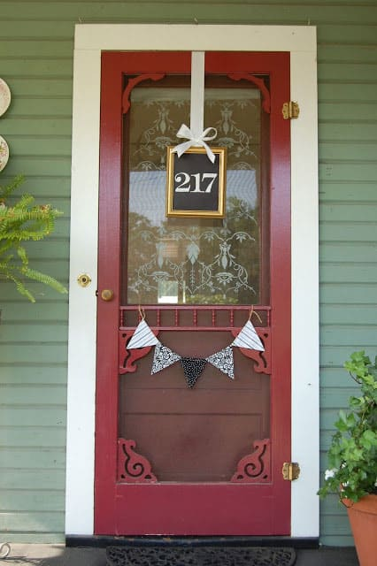 Repurposed Picture Frame House Number