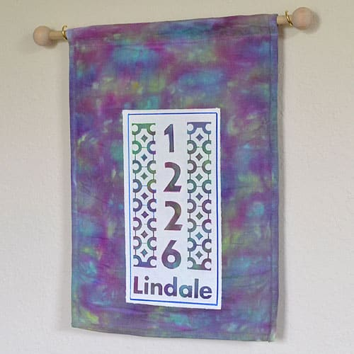 Tie Dyed House Number Banners