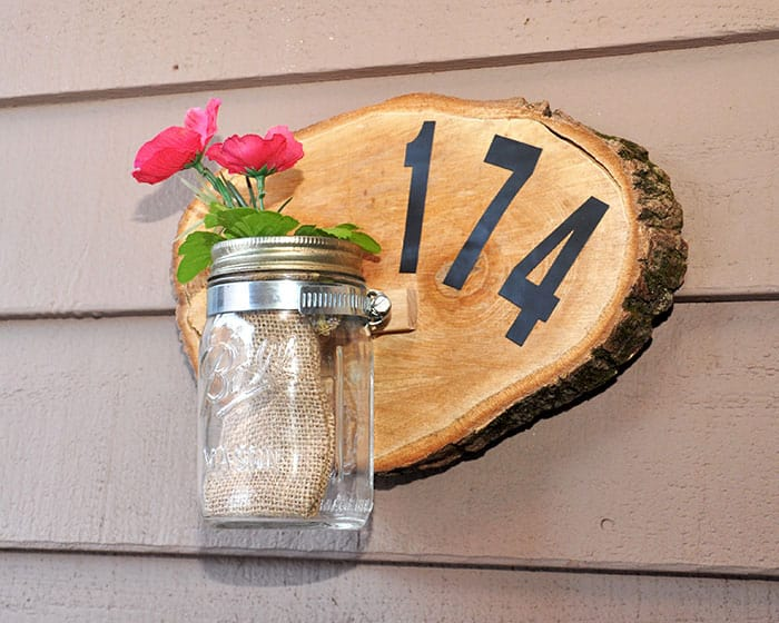 Make a House Number Sign with a Wood Slice