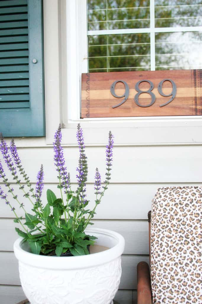 DIY House Number Sign from a Cutting Board