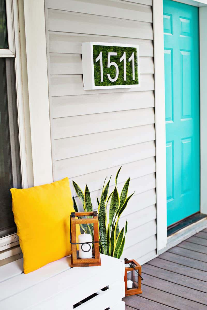 Modern House Number DIY with Astroturf