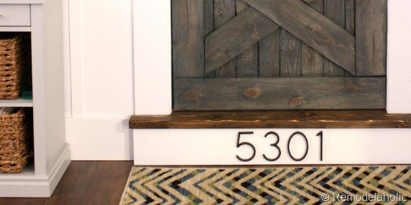 Stair Riser House Numbers