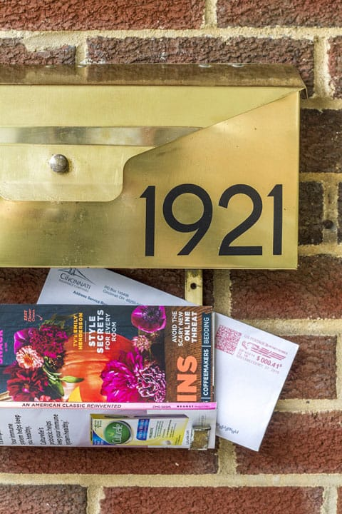 Our Mid-Century Wall-Mounted Mailbox Makeover