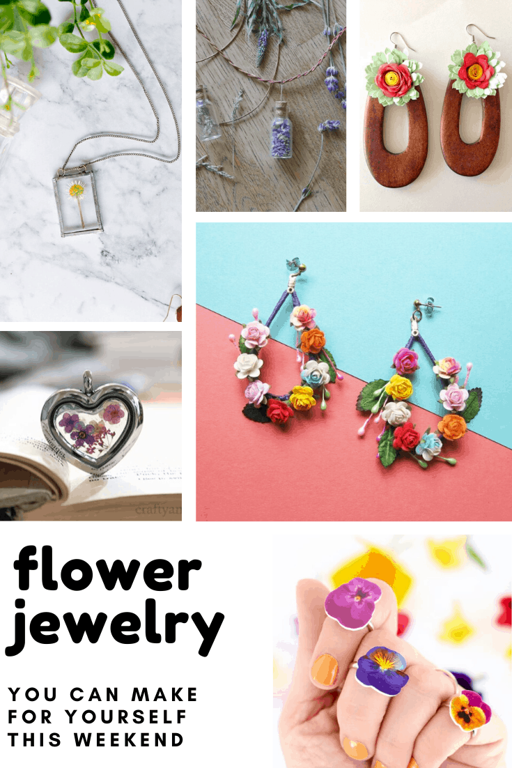 Loving these diy jewelery pieces - so many ways to include flowers in your statement pieces!