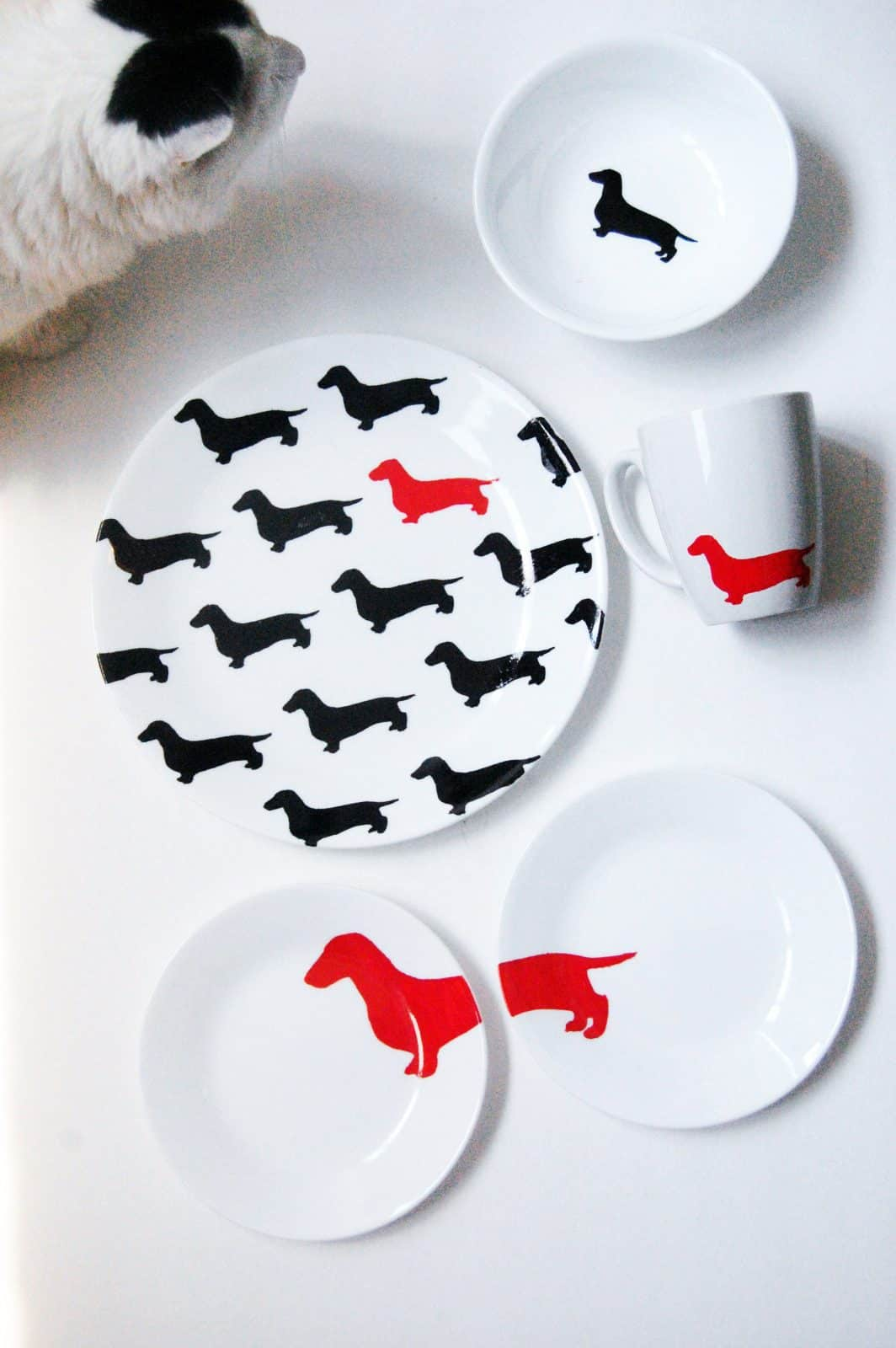 Kate Spade Inspired DIY Dachshund Dish Set