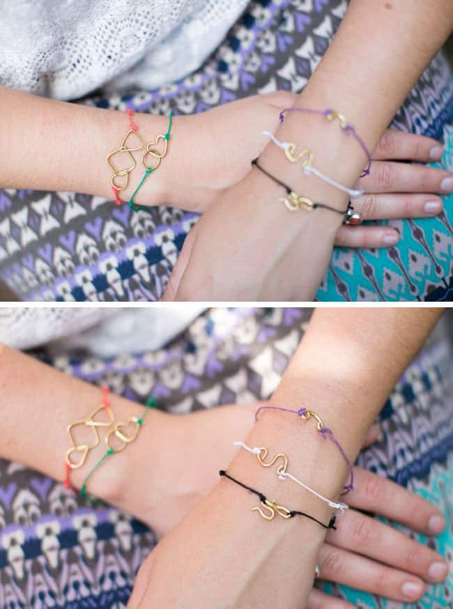 DIY Kate Spade Tiny Shapes Bracelets