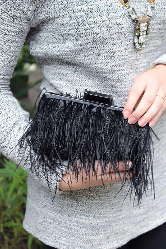 DIY Kate Spade Feather Clutch