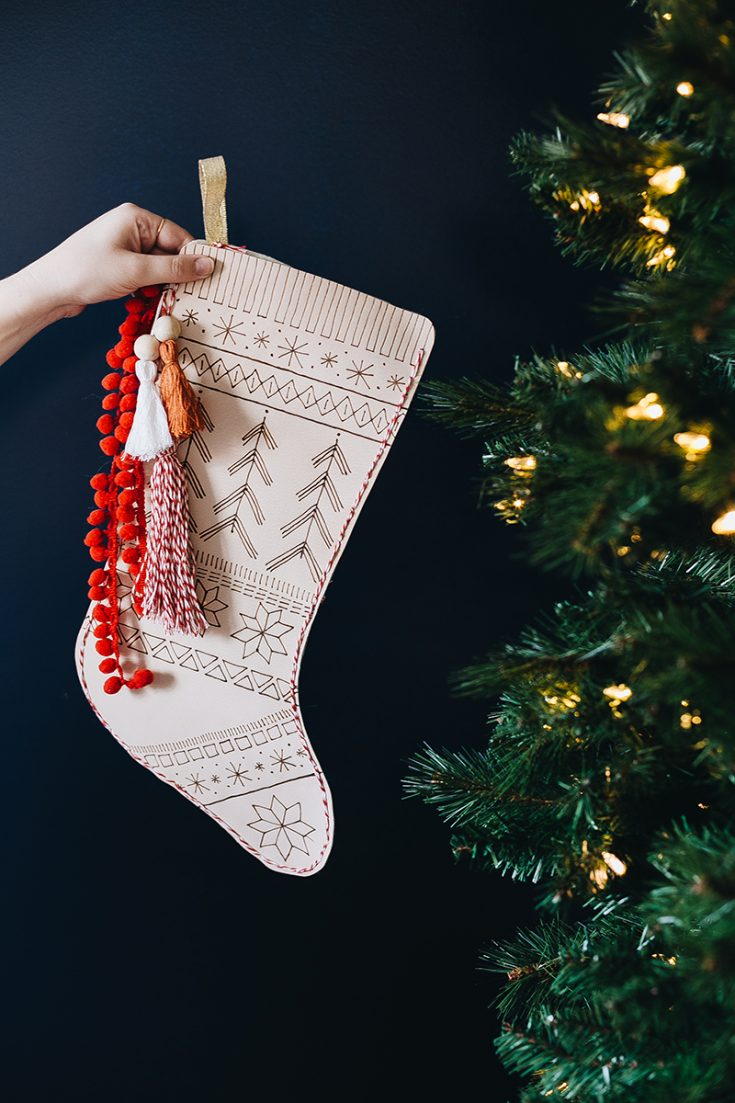 Fair Isle Leather Stocking DIY