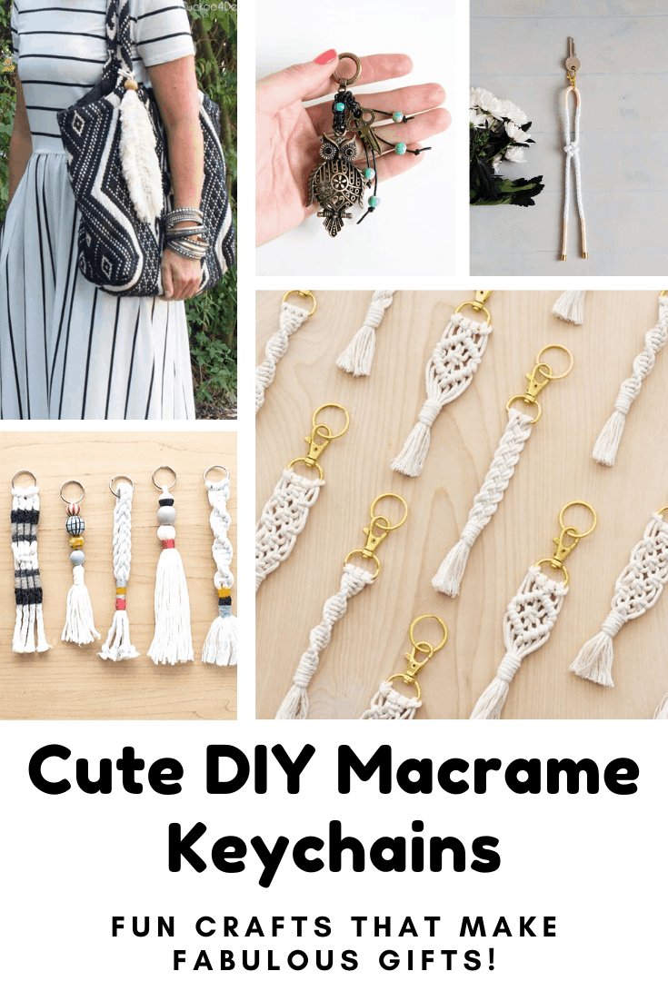 Come and check out these cute DIY macrame keychains if you need a craft activity for the weekend! They make cute handmade gifts too! #macrame #diy #crafts