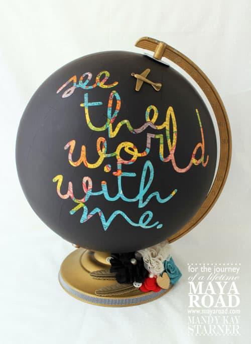 Maya Road Chalkboard Globe