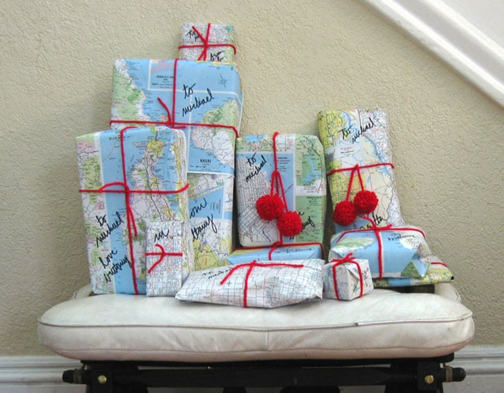 Map-Wrapped Gifts