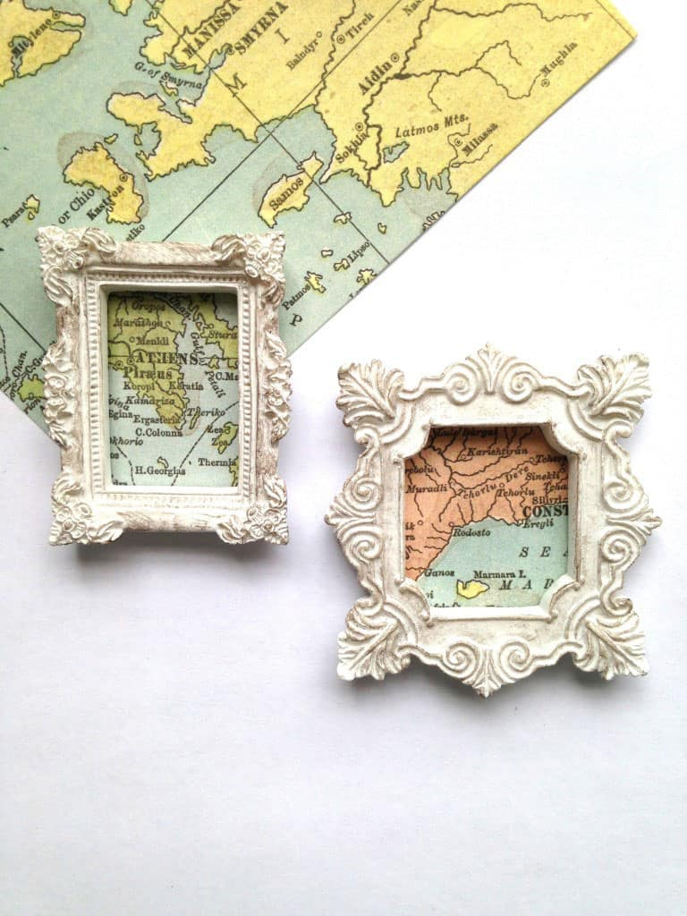 Miniature Map Magnets Craft Tutorial