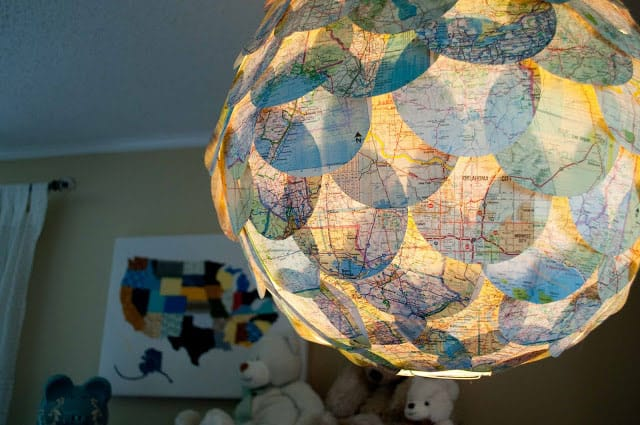 DIY: Map Pendant