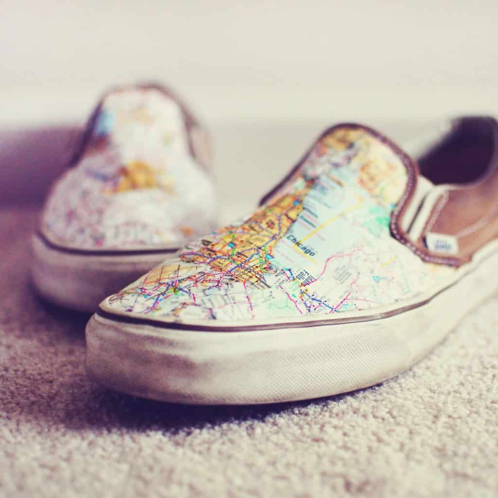 Make Your Own Map Shoes