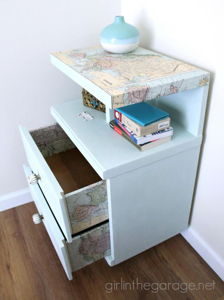 Decoupaged Map Table