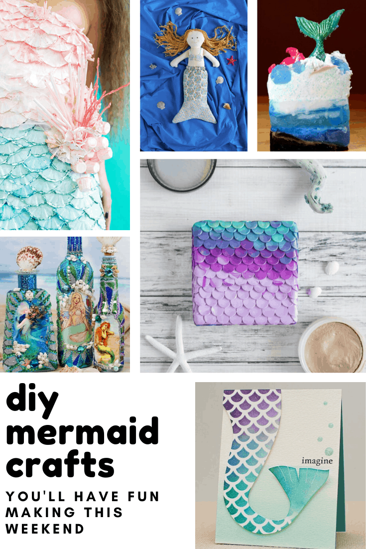 Loving these DIY mermaid crafts! So many ideas for things to make that kids and grownups will enjoy