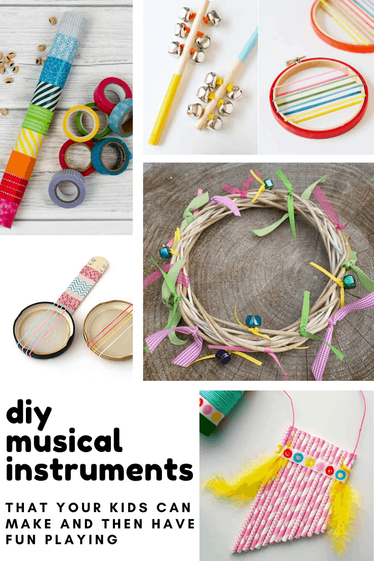 Loving these diy musical instruments - and such a wonderful thing to teach children that they can make their own toys!