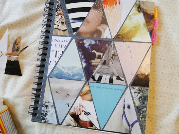 DIY Triangle Notebook Cover