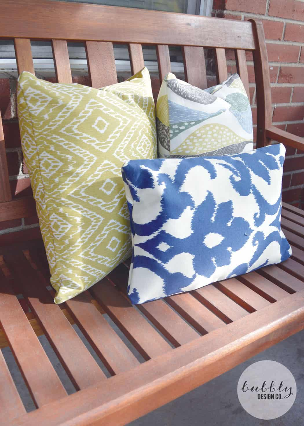 No Sew Outdoor Pillows