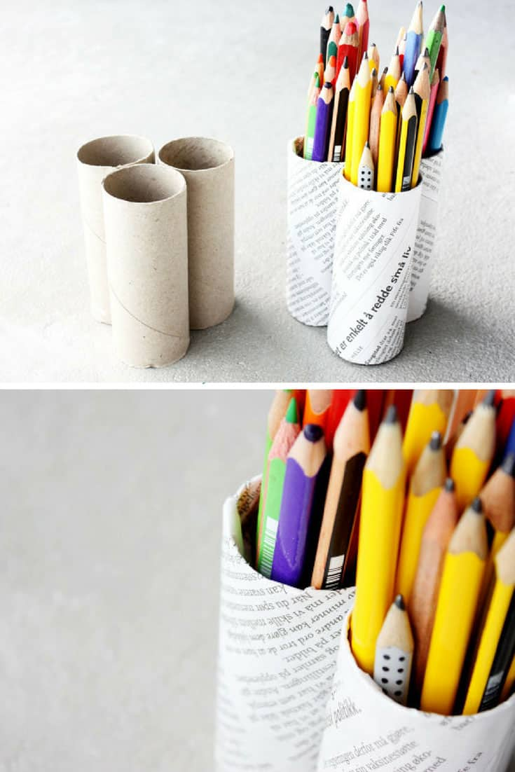 Toilet Tube Pencil Holder