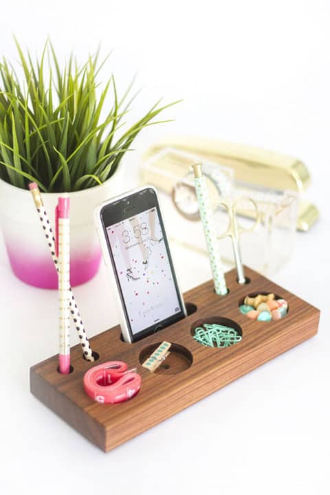 How To Make Your Own DIY Wooden Desk Caddy
