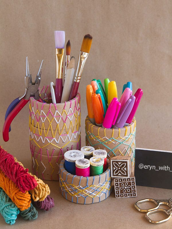 21 Brilliant Diy Pencil Holders You Can Make This Weekend: diy pencil holder for desk