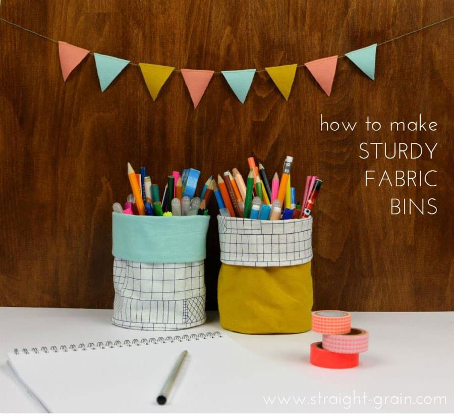Sturdy Fabric Pencil Holders