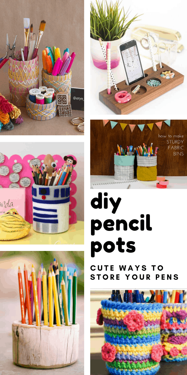 Loving these DIY pencil pots you can make this weekend -the perfect way to clear the clutter on your desk!