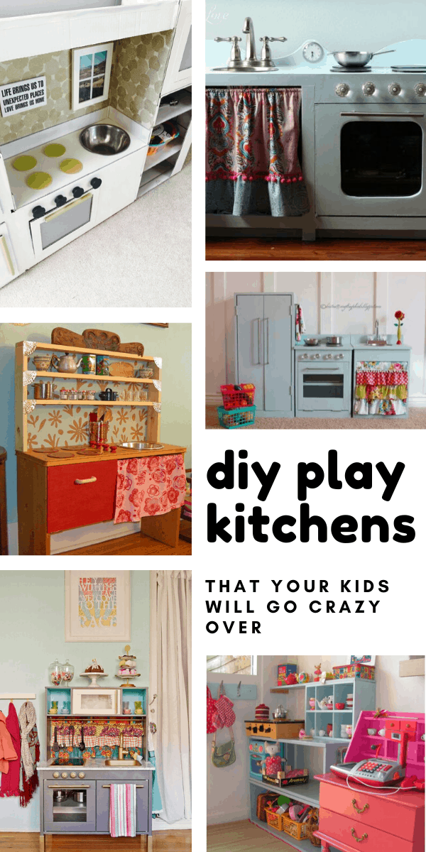These DIY play kitchens are almost better than my actual one! The kids will have hours of joy cooking up a storm!