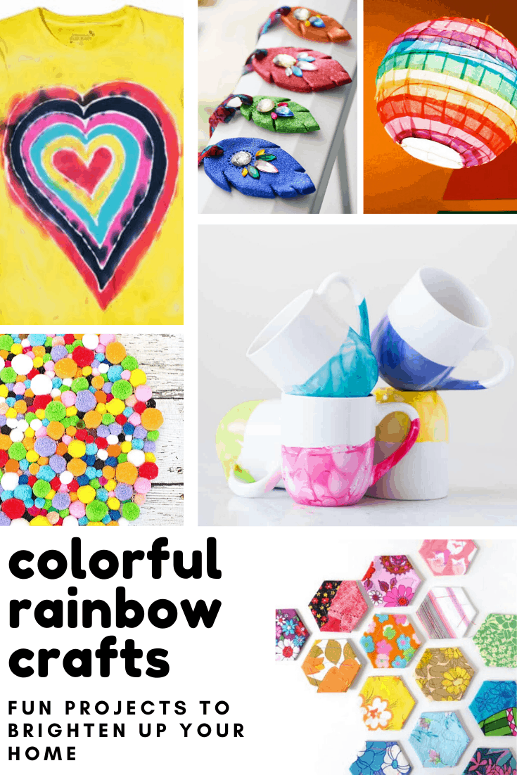 Loving these DIY rainbow crafts - so many projects to brighten up your day!