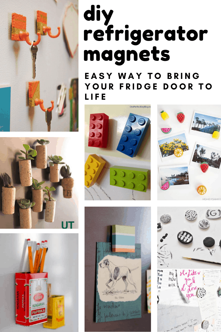 This weekend why not have fun decorating your fridge with these diy refrigerator magnet projects that are great fun for kids and grownups!