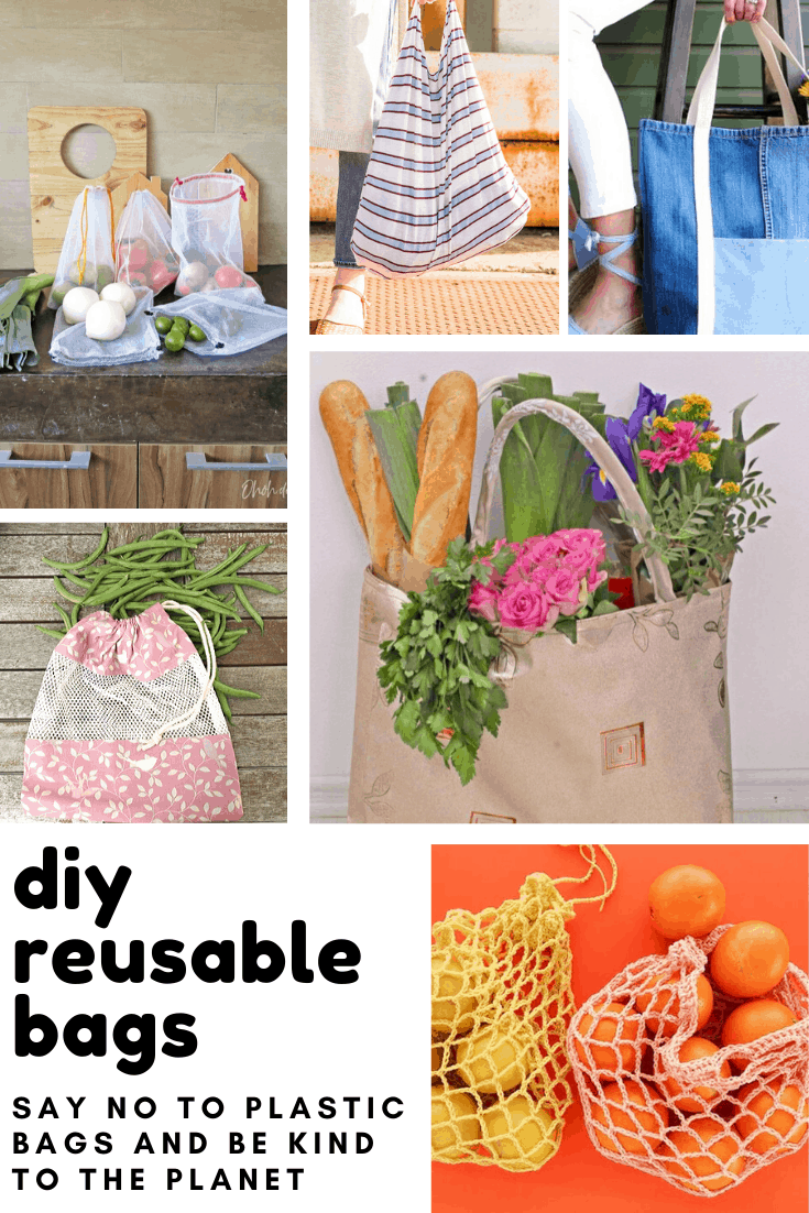 These DIY reusable bags are easy to make and kinder to the planet than plastic bags
