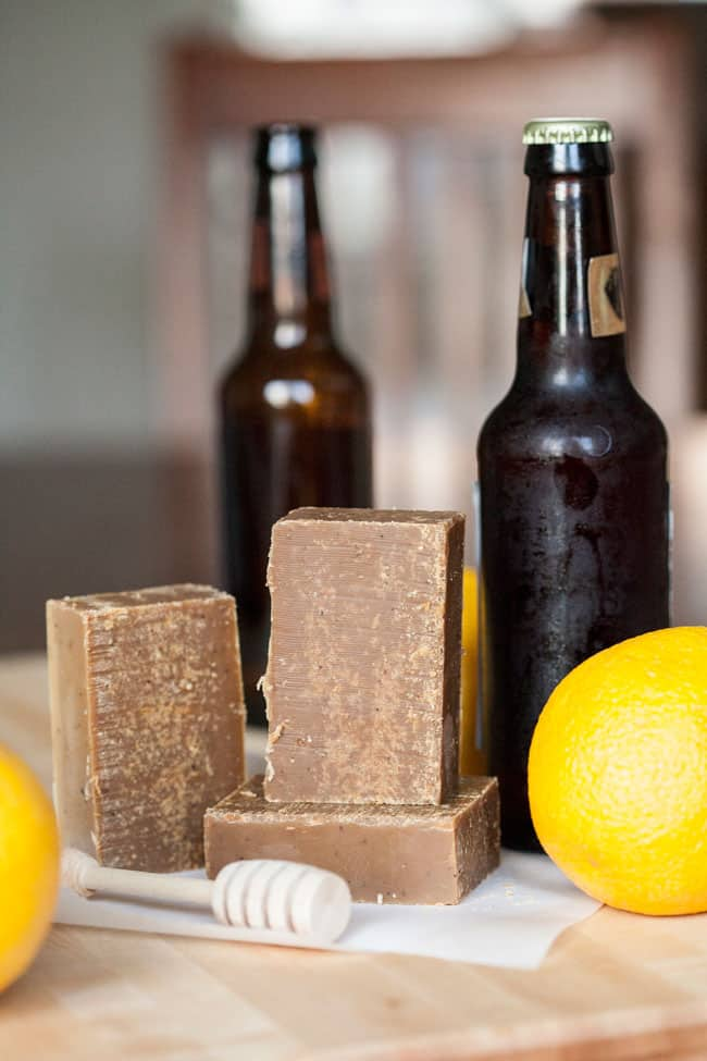 A RECIPE FOR CITRUS HONEY SCOTCH ALE SOAP