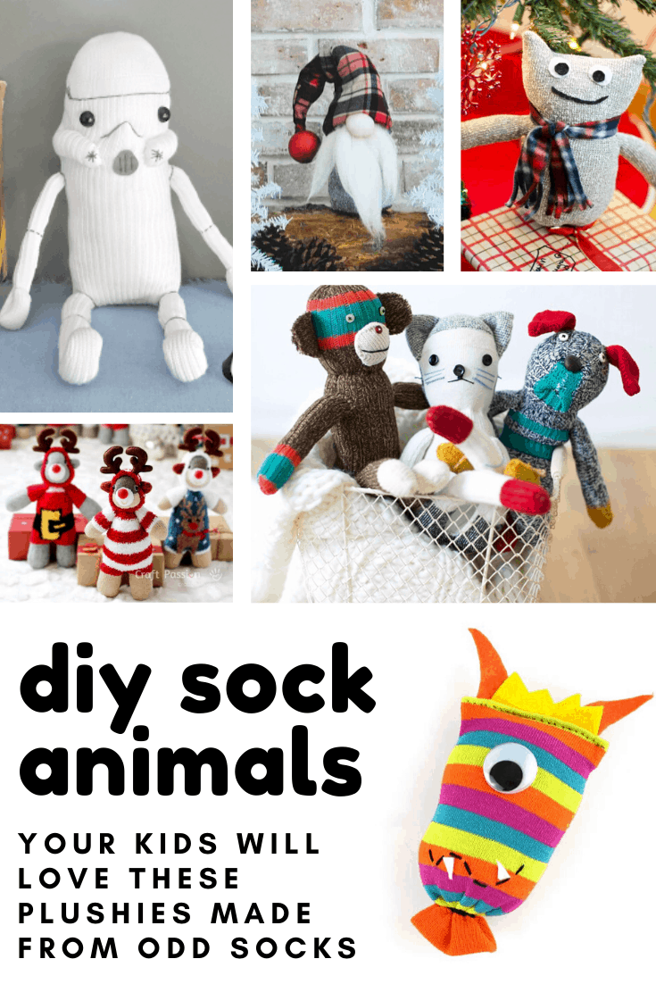 Adorable! These diy sock animal plushies are so cute and make wonderful Christmas gifts for the kids!