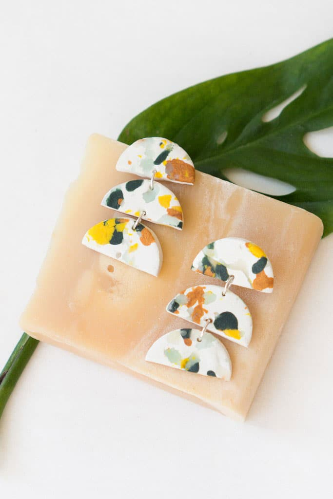 Use up your scrap clay to make these gorgeous Terrazzo earrings!