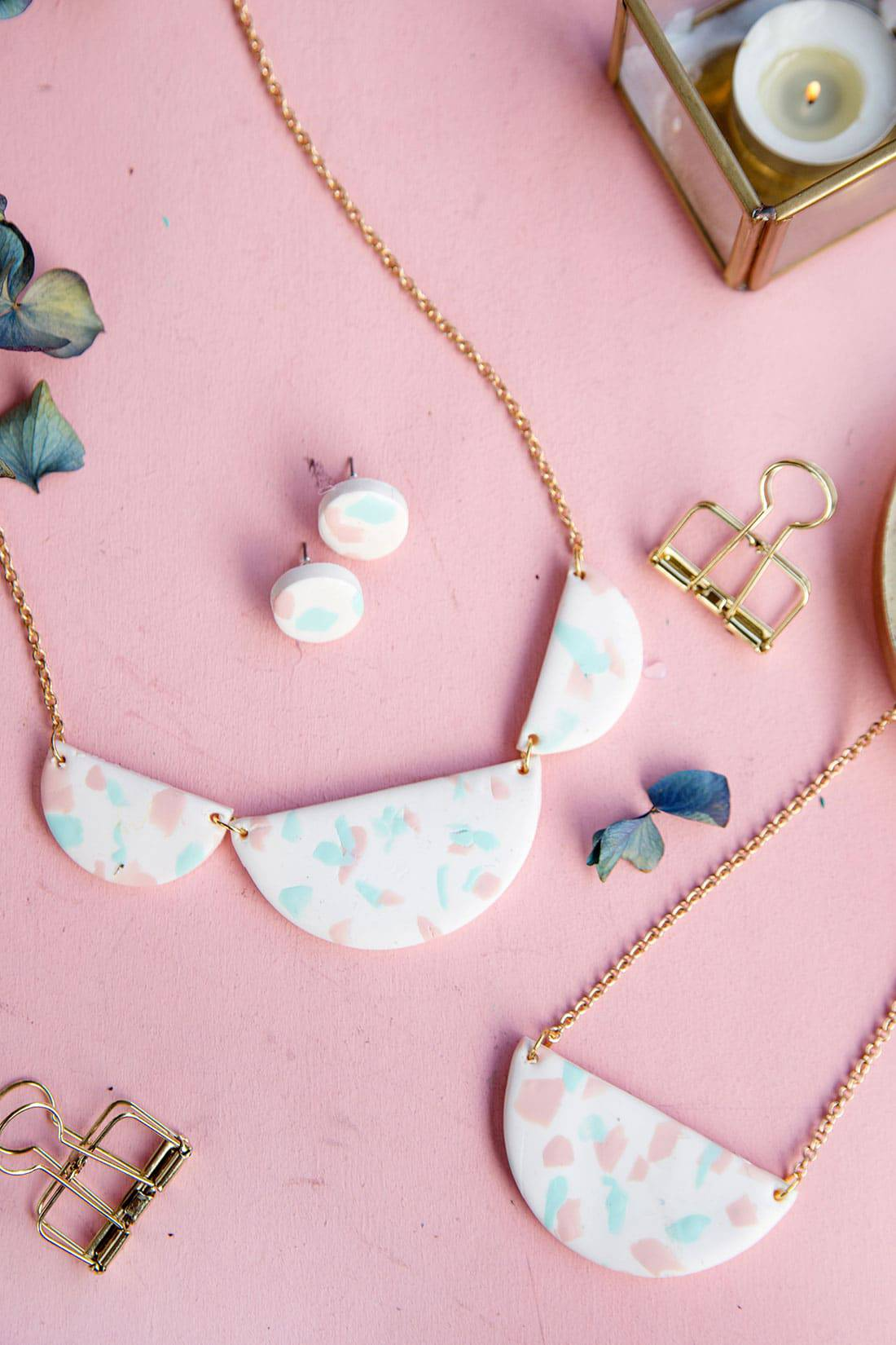 Your friends will all be begging to know where you bought this Terrazzo chain - and will be shocked when you tell them you made it yourself!