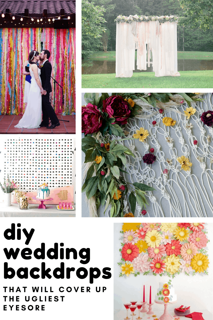 Wow these DIY wedding backdrops will look amazing in your photos - you can use them behind your dessert table or your alter