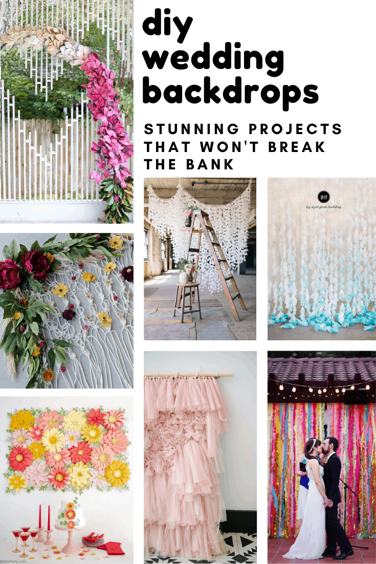 Need to cover up a venue eyesore? Try one of these DIY wedding background projects
