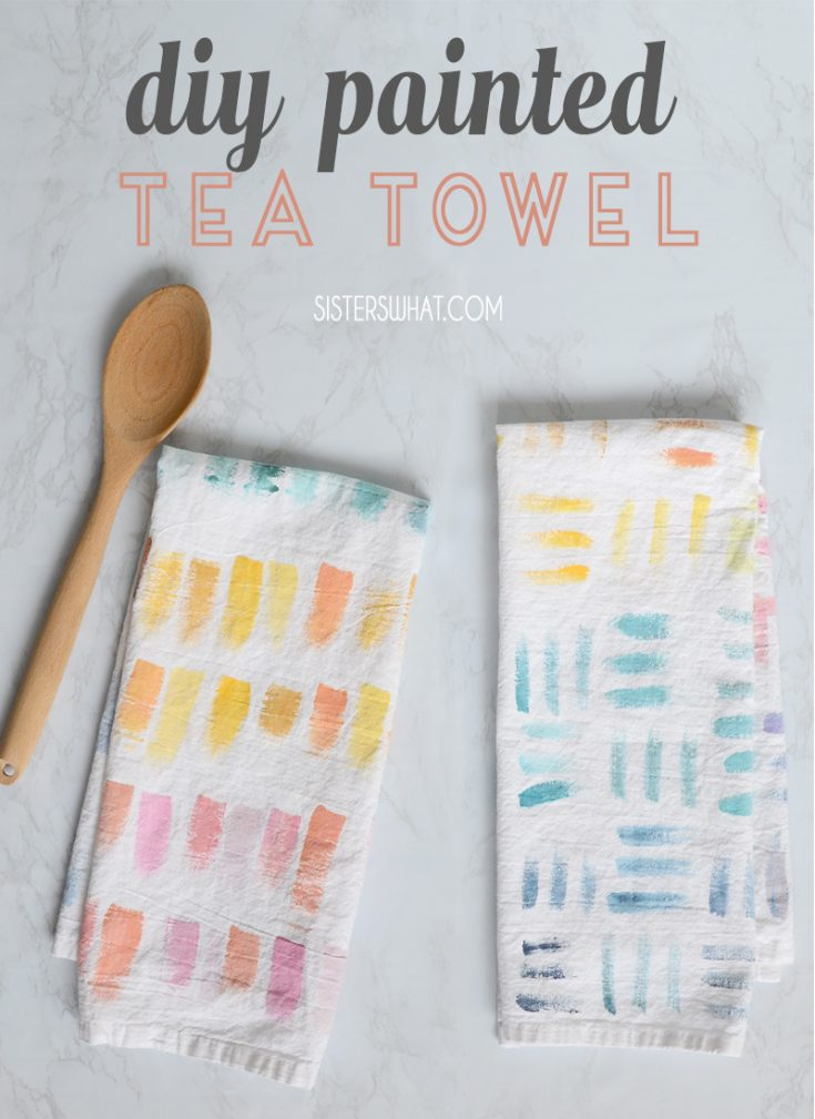 DIY Painted Tea Towels