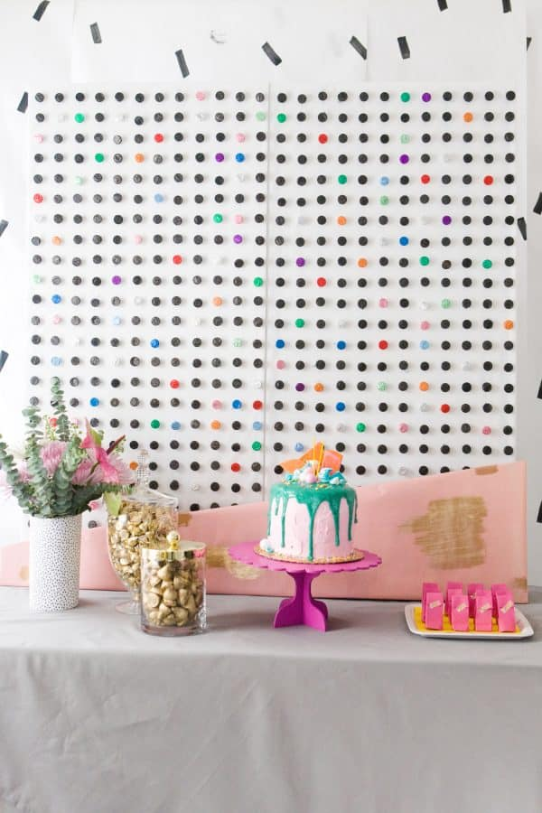 DIY Hershey Kiss Dotted Backdrop