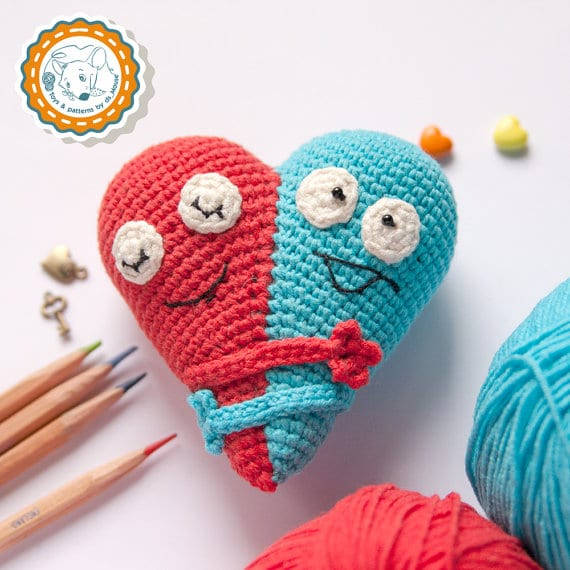 Double Heart Crochet Pattern